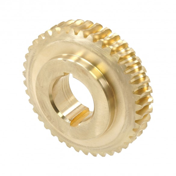 "Bronze Gear, 1 1/4"" Bore, 20:1 Ratio, Double Keyed - Little Beaver 10072"