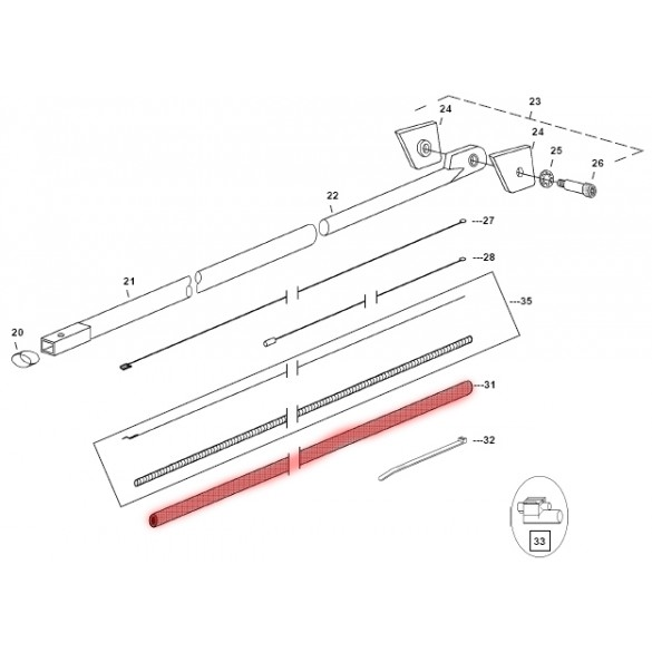 Kill Switch Wire Loom - Highlighted Part Only