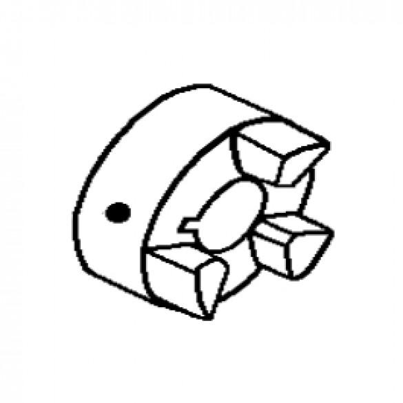 """Flexible Coupling, 5/8"""" Bore, Pump End - Little Beaver 30267-58"""
