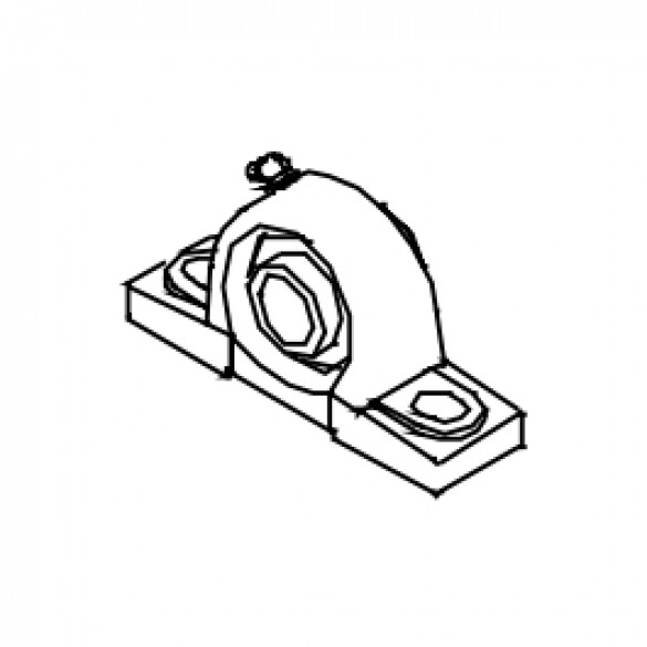 "Bearing, 1"" Pillow Block - Little Beaver KTP205"