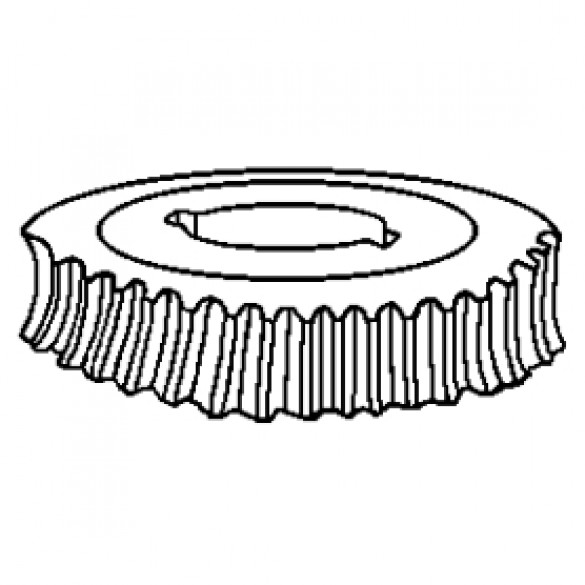 "Bronze Gear, 1 1/4"" Bore, 13:1 Ratio, Double Keyed 12134-2-90211 - Little Beaver 10075"