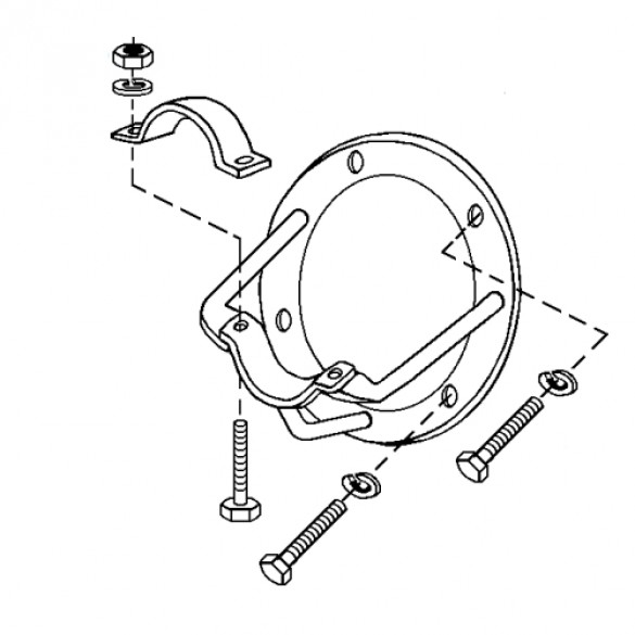 Clutch Bracket Assembly, All 7 & 8 HP - Little Beaver 3011-HMA