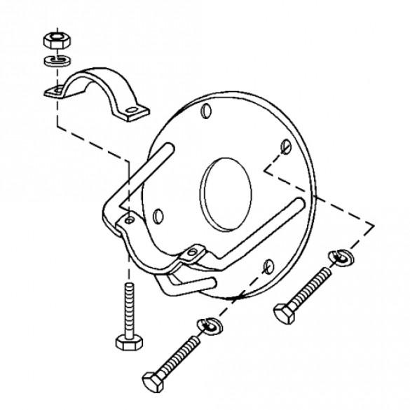 Clutch Bracket Assembly, All 5 HP - Little Beaver 3011-MA