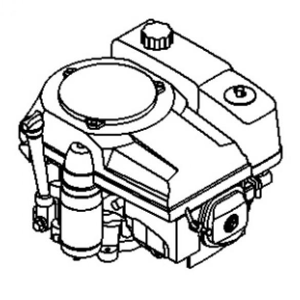 Engine, 11 HP Honda, Vertical Shaft, GXV340UT2DX3 - Little Beaver 38000