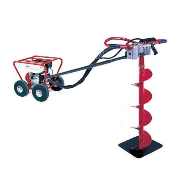 Little Beaver 5 HP Post Hole Digger B&S with Roll Cage 20:1 - MDL-5B2PR7