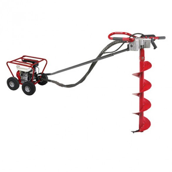 Little Beaver 8 HP Post Hole Digger Honda with Roll Cage 20:1 - MDL-8H2R7