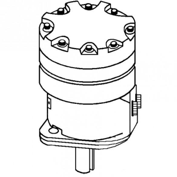 Motor, Char-Lynn #101-1040, 60 rpm, 24 cubic inch 2-Bolt Flange - Little Beaver 30278