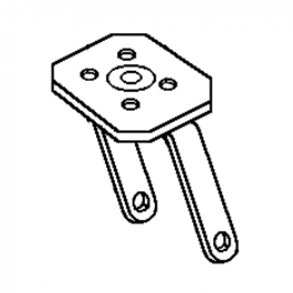 Swivel Wheel Mount (Includes Bolt, Nut and Spacers) - Little Beaver 30253-A
