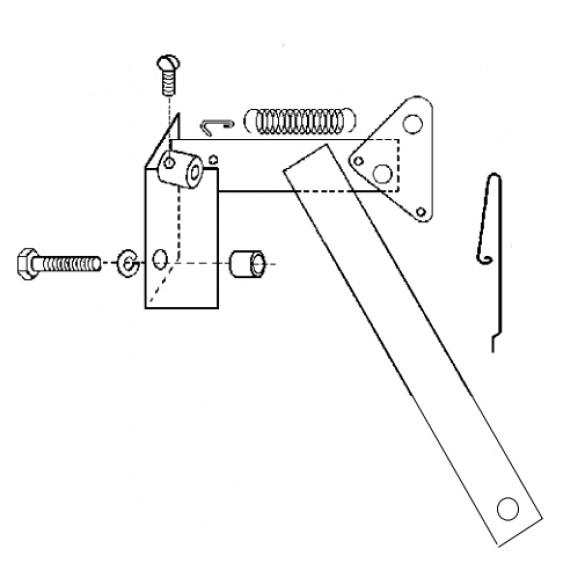 Throttle Bracket Assembly, Model 7 B&S - Little Beaver 3010-D