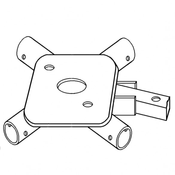 Two Man Handle, Spider Only, Plate for 2-Bolt Flange - Little Beaver 30190
