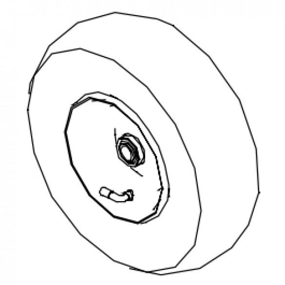 "Wheel, 12"" Pneumatic for KT1200B and KT2400B - Little Beaver KT046"