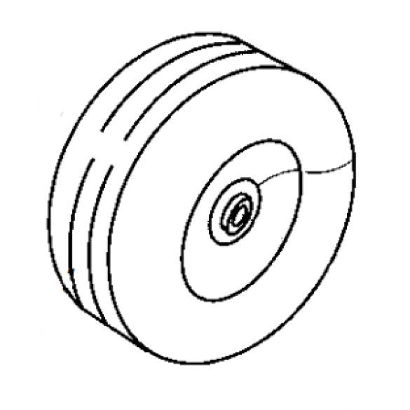 """10"""" Diameter Wheel, 3/4"""" Bore with Tube for Models KT100 and KT200B - Little Beaver 30258"""
