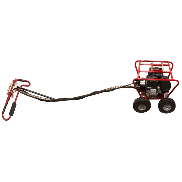 Little Beaver 8 HP Post Hole Digger B&S with Roll Cage 20:1 - MDL-8B2R7