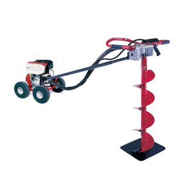 Little Beaver 5 HP Post Hole Digger B&S with Pneumatic Wheels - MDL-5BP