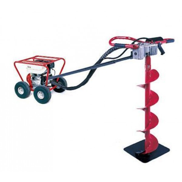 Little Beaver 8 HP Post Hole Digger B&S with Roll Cage 13:1 - MDL-8B3R7