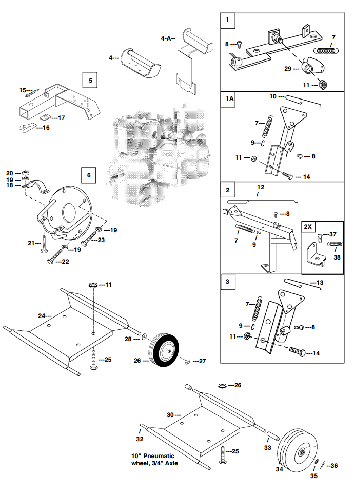 Little Beaver mechanical earth drill 5 HP engine parts diagram