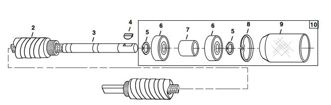 Little Beaver mechanical earth drill flexible shaft
