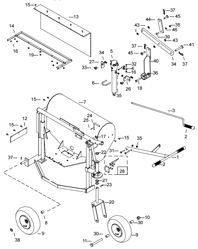 Little Beaver KT1200B Frame Assembly Parts Diagram