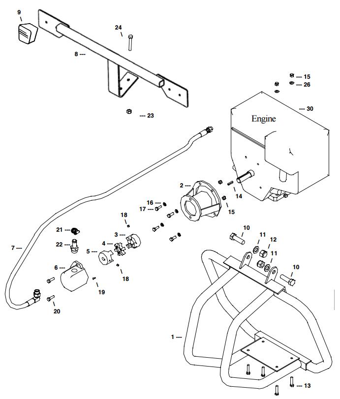 Little Beaver Towable Engine Frame Assembly Part Diagram