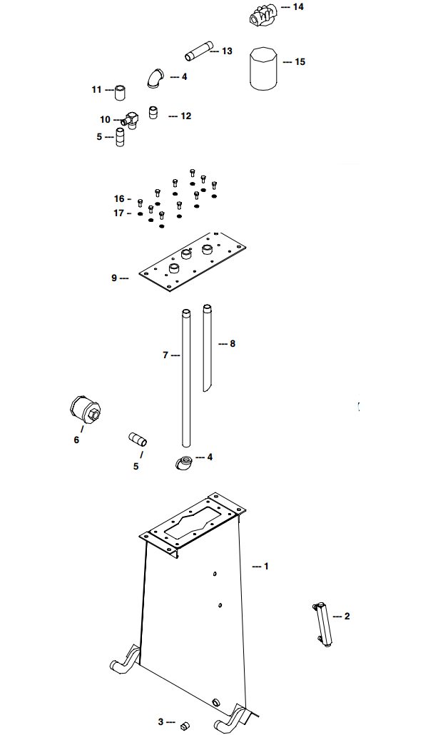 Little Beaver Towable Hydraulic Tank Assembly Linkage Parts Diagram