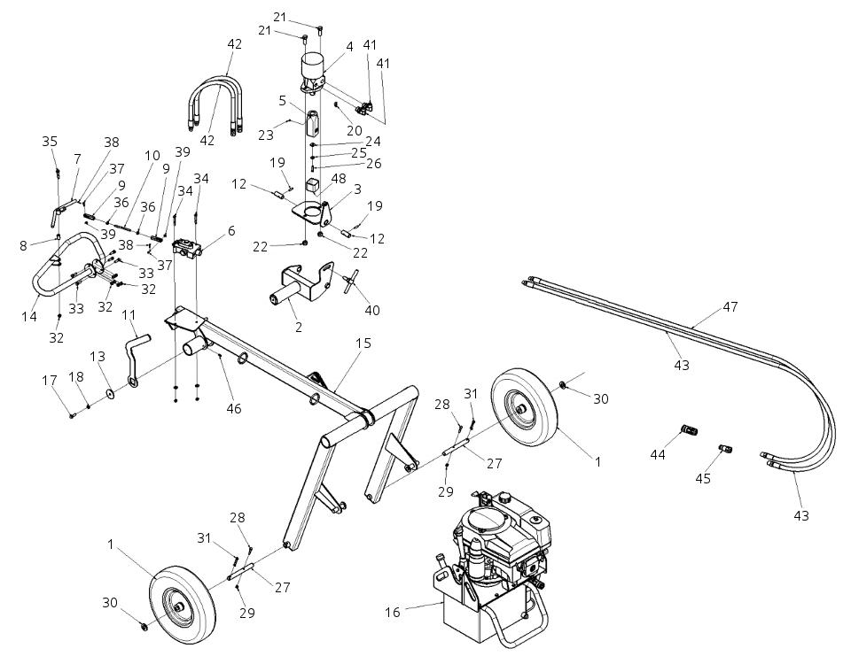 Little Beaver HYD-NTV11H Parts Diagram