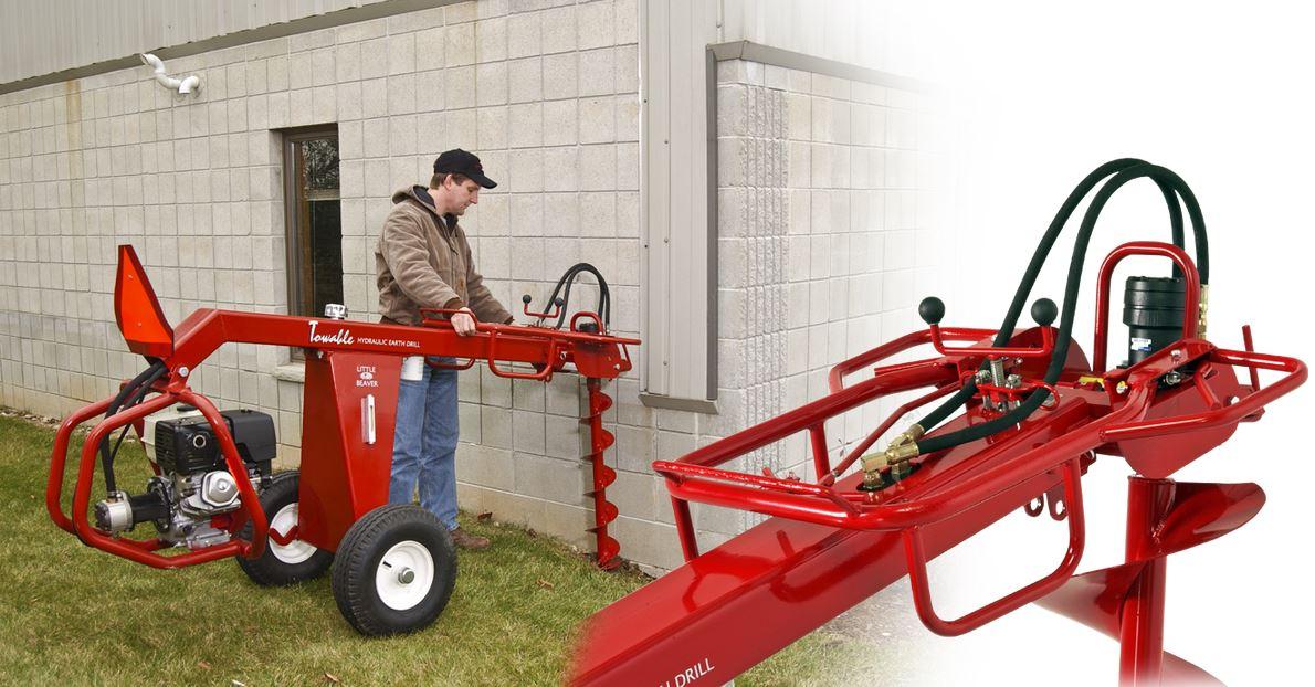 Little Beaver hydraulic towable earth drill