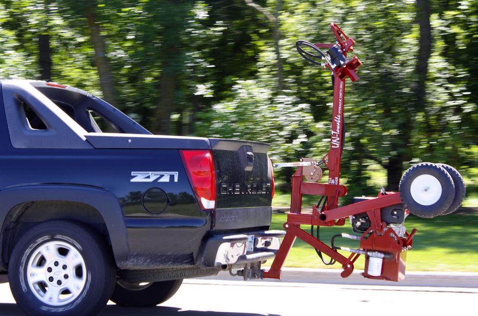 Little Beaver hydraulic untowable earth drill